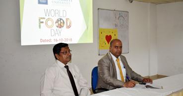 संस्कृति विश्वविद्यालय में मनाया विश्व खाघ दिवस