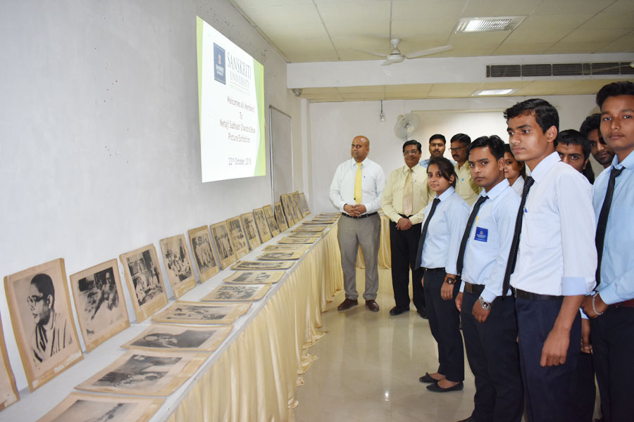 Netaji Subhash's picture exhibition organized at Sanskriti University