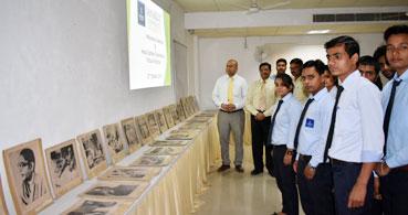 Netaji Subhash's picture exhibition organized at Sanskriti University